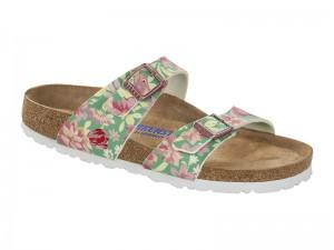 Papucs / Birkenstock Sydney Sn Flowers Emerald Soft