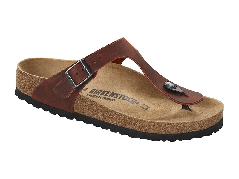 Birkenstock Gizeh Earth Red Bőr Széles