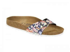 Papucs / Birkenstock papucs Madrid Natural Flower navy