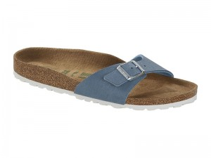Egypántos papucs / Birkenstock Madrid Dove Blue Vegán