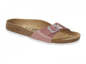 Papucs / Birkenstock Madrid Patent Old Rose