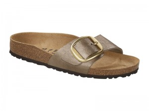 Papucs / Birkenstock Madrid Big Buckle Gracefull Taupe