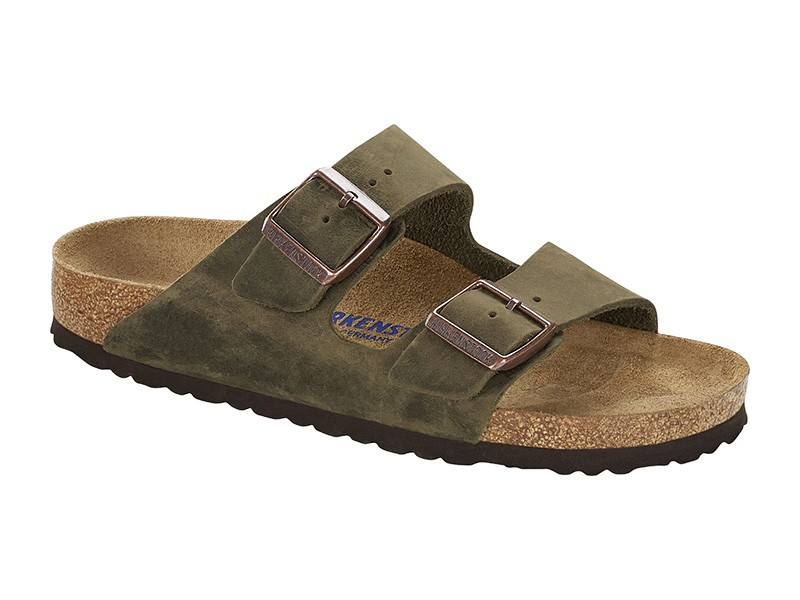 Birkenstock Arizona Mud Green Bőr Soft