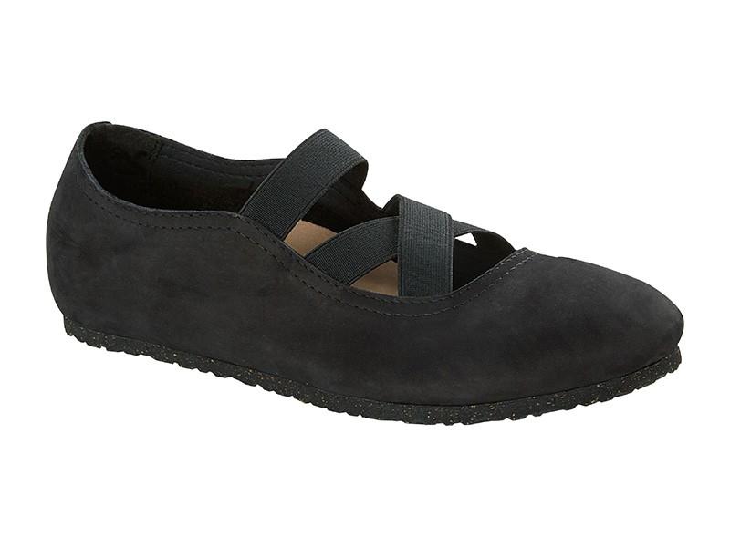 Birkenstock cipő Santa Ana Fekete Bőr Széles