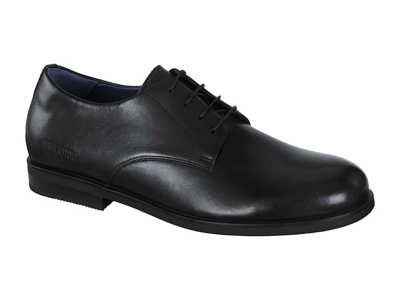 Birkenstock cipő Jaren Fekete Bőr Széles